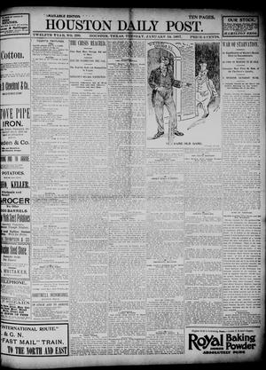 Primary view of object titled 'The Houston Daily Post (Houston, Tex.), Vol. TWELFTH YEAR, No. 290, Ed. 1, Tuesday, January 19, 1897'.
