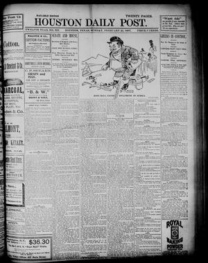 Primary view of object titled 'The Houston Daily Post (Houston, Tex.), Vol. TWELFTH YEAR, No. 323, Ed. 1, Sunday, February 21, 1897'.