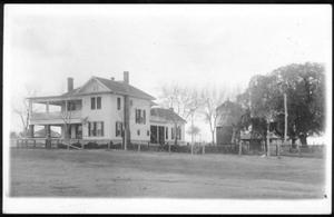 [The George Ranch house from a northwest approach]
