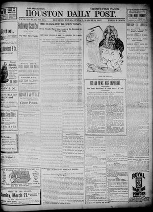 Primary view of object titled 'The Houston Daily Post (Houston, Tex.), Vol. TWELFTH YEAR, No. 351, Ed. 1, Sunday, March 21, 1897'.