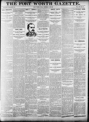 Fort Worth Gazette. (Fort Worth, Tex.), Vol. 13, No. 33, Ed. 1, Thursday, July 23, 1891