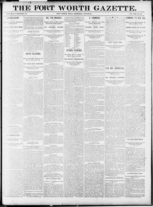 Primary view of object titled 'Fort Worth Gazette. (Fort Worth, Tex.), Vol. 13, No. 36, Ed. 1, Thursday, August 13, 1891'.
