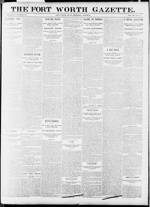 Primary view of object titled 'Fort Worth Gazette. (Fort Worth, Tex.), Vol. 13, No. 37, Ed. 1, Thursday, August 20, 1891'.