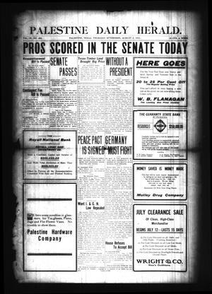 Palestine Daily Herald. (Palestine, Tex), Vol. 9, No. 305, Ed. 1 Thursday, August 3, 1911