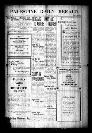 Palestine Daily Herald. (Palestine, Tex), Vol. 10, No. 112, Ed. 1 Friday, December 22, 1911