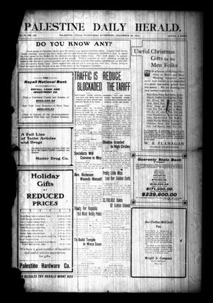 Palestine Daily Herald. (Palestine, Tex), Vol. 10, No. 110, Ed. 1 Wednesday, December 20, 1911