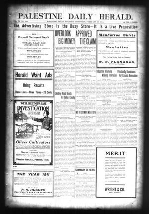 Palestine Daily Herald. (Palestine, Tex), Vol. 4, No. 164, Ed. 1 Saturday, February 18, 1911