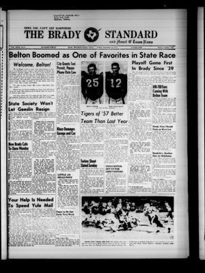 Primary view of object titled 'The Brady Standard and Heart O' Texas News (Brady, Tex.), Vol. 49, No. 6, Ed. 1 Friday, November 22, 1957'.