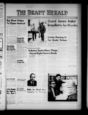 Primary view of object titled 'The Brady Herald (Brady, Tex.), Vol. 14, No. 22, Ed. 1 Tuesday, February 26, 1957'.