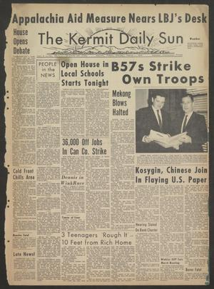 Primary view of object titled 'The Kermit Daily Sun (Kermit, Tex.), Vol. 2, No. 82, Ed. 1 Monday, March 1, 1965'.