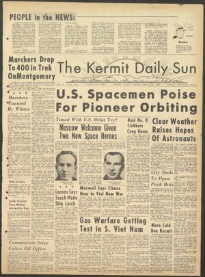 Primary view of object titled 'The Kermit Daily Sun (Kermit, Tex.), Vol. 2, No. 100, Ed. 1 Monday, March 22, 1965'.