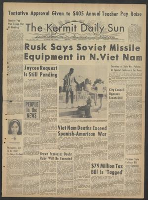 Primary view of object titled 'The Kermit Daily Sun (Kermit, Tex.), Vol. 2, No. 156, Ed. 1 Wednesday, May 26, 1965'.