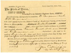 Document pertaining to the case of Faulk et al. vs. A. Fergerson, cause no. 1273, 1883