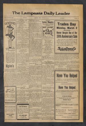 Primary view of The Lampasas Daily Leader (Lampasas, Tex.), Vol. 27, No. 304, Ed. 1 Saturday, February 28, 1931