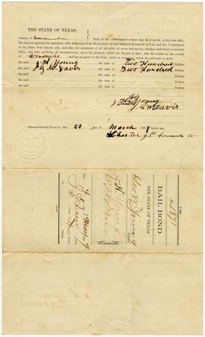 Document pertaining to the case of The State of Texas vs. George Young, cause no. 1871, 1887