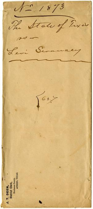 Primary view of object titled 'Document pertaining to the case of The State of Texas vs. Levi Swansey, cause no. 1873, 1887'.