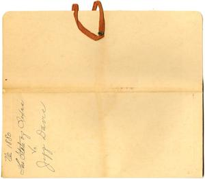 Document pertaining to the case of The State of Texas vs. Jeff Davis, cause no. 1880, 1887
