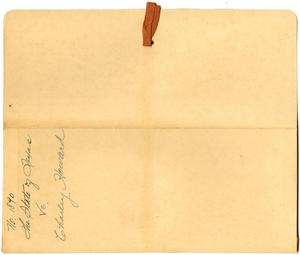 Primary view of object titled 'Document pertaining to the case of The State of Texas vs. Charley Howard, cause no. 1890, 1887'.