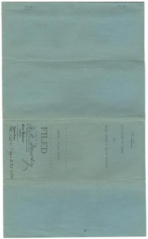 Primary view of object titled 'Document pertaining to the case of The State of Texas vs. Texas Power and Light Company, cause no. 371 [Part 2], 1947'.