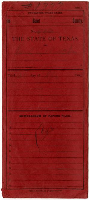 Documents pertaining to the case of The State of Texas vs. Paul Deloach, cause no. 526_(1777a), 1906