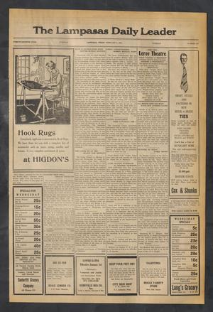 Primary view of object titled 'The Lampasas Daily Leader (Lampasas, Tex.), Vol. 27, No. 282, Ed. 1 Tuesday, February 3, 1931'.