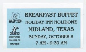Primary view of object titled '[Reunion Buffet Ticket]'.