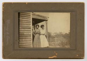 [Photograph of Two Women on a Porch]