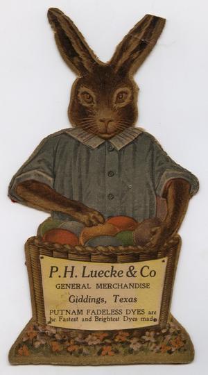 [Advertisement Cutout for Luecke & Co. General Merchandise Store]