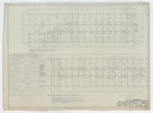 High School Building Abilene, Texas: Second Floor Framing Plan Wing 'A' & 'C'