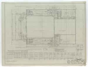 High School Gymnasium Abilene, Texas: First Floor Plan