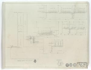 High School Gymnasium Abilene, Texas: Second Floor Plan Wing 'B'