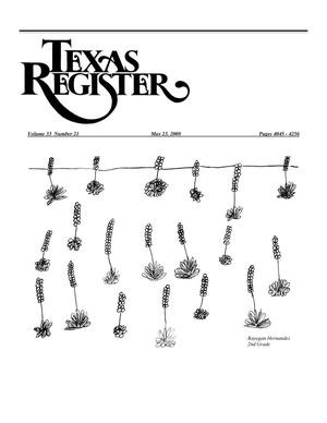 Primary view of object titled 'Texas Register, Volume 33, Number 21, Pages 4045-4256, May 23, 2008'.