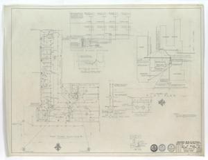 High School Gymnasium Abilene, Texas: First Floor Plan Wing 'B' with Plot Plan