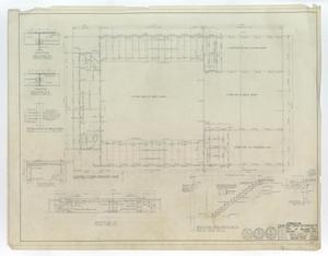 High School Gymnasium Abilene, Texas: Second Floor Framing Plan