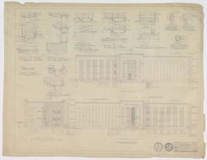 Primary view of object titled 'Sandefer Building, Abilene, Texas: Elevation & Door Details'.