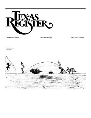 Primary view of object titled 'Texas Register, Volume 33, Number 51, Pages 10253-10386, December 19, 2008'.