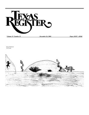 Primary view of object titled 'Texas Register, Volume 33, Number 52, Pages 10387-10560, December 26, 2008'.