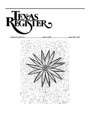 Primary view of object titled 'Texas Register, Volume 34, Number 21, Pages 3035-3328, May 22, 2009'.