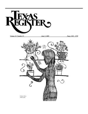 Primary view of object titled 'Texas Register, Volume 34, Number 23, Pages 3451-3570, June 5, 2009'.