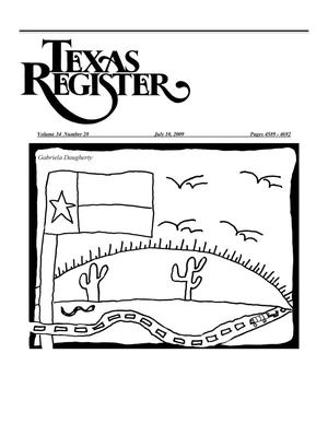 Primary view of object titled 'Texas Register, Volume 34, Number 28, Pages 4589-4692, July 10, 2009'.