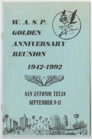 Primary view of object titled '[WASP Golden Anniversary Reunion Program]'.
