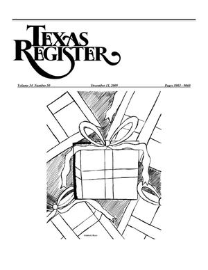 Primary view of object titled 'Texas Register, Volume 34, Number 50, Pages 8903-9060, December 11, 2009'.