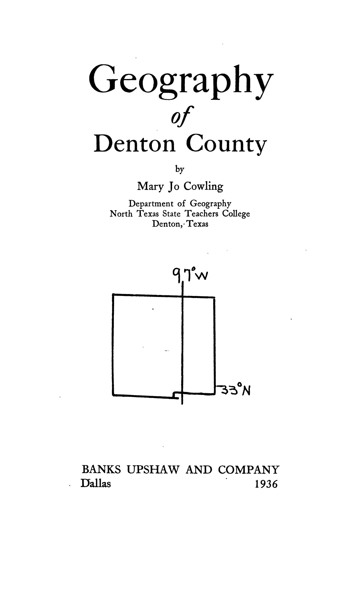 Geography of Denton County                                                                                                      None