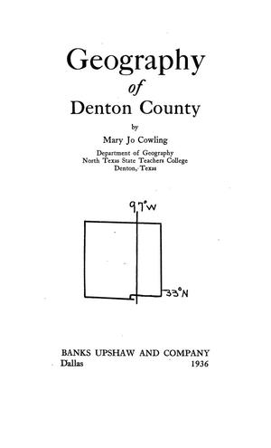 Primary view of object titled 'Geography of Denton County'.