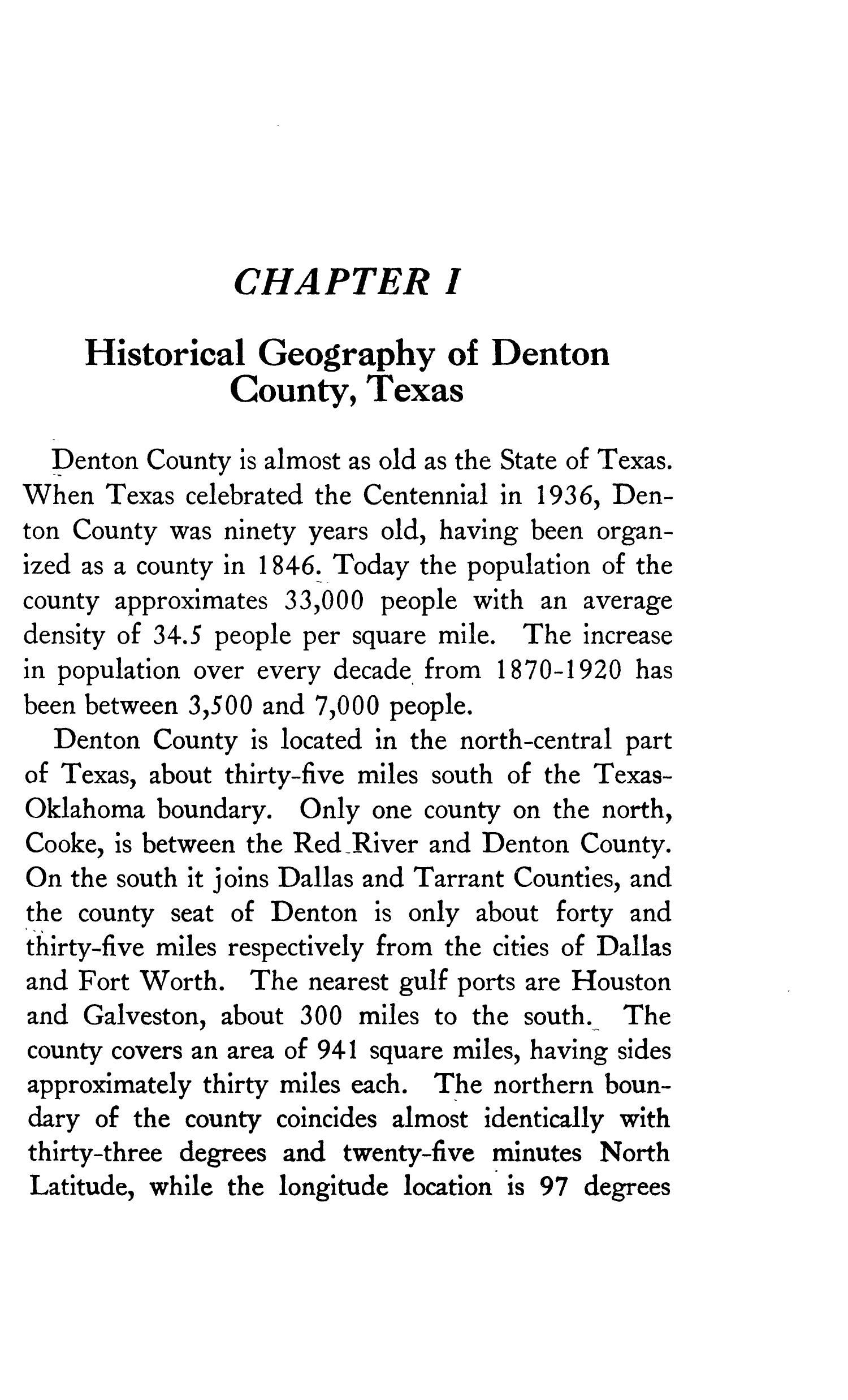 Geography of Denton County                                                                                                      1