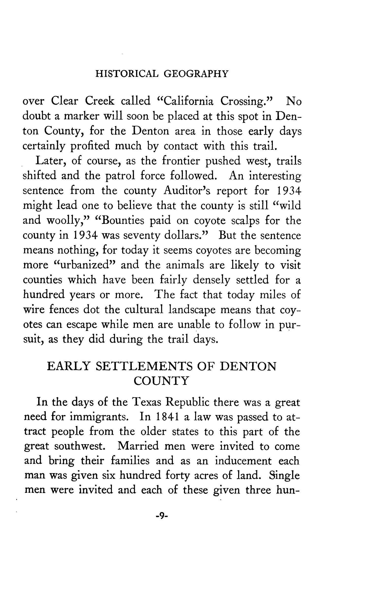 Geography of Denton County                                                                                                      9