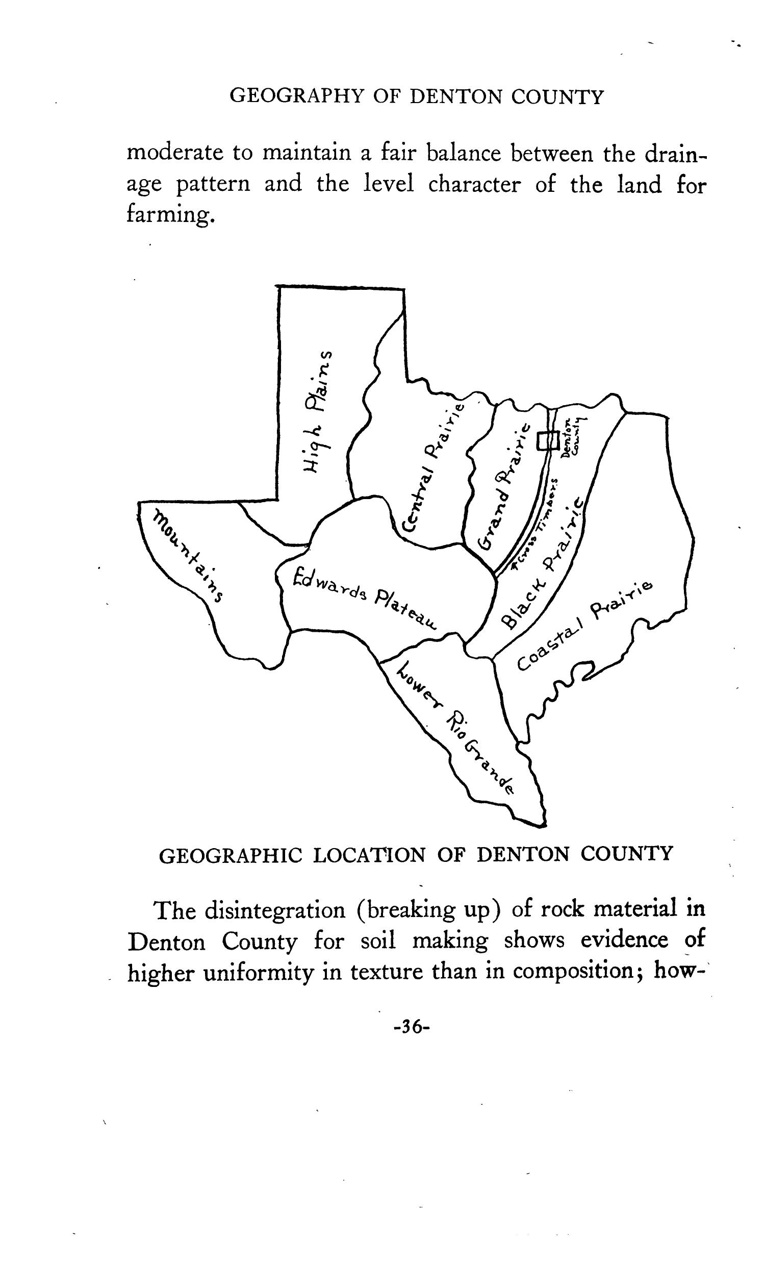 Geography of Denton County                                                                                                      36
