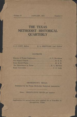 Primary view of object titled 'Texas Methodist Historical Quarterly, Volume 2, Number 3, January 1911'.