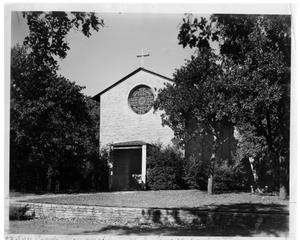 Primary view of object titled 'Texas Woman's University Little Chapel in the Woods, 1937'.