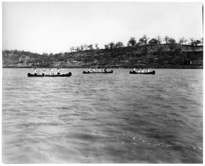 Primary view of object titled '[Photograph of Texas Woman's University Canoeing Team]'.